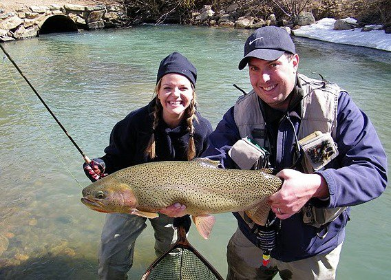 Tad howard trout the venturing angler for Colorado fishing guide