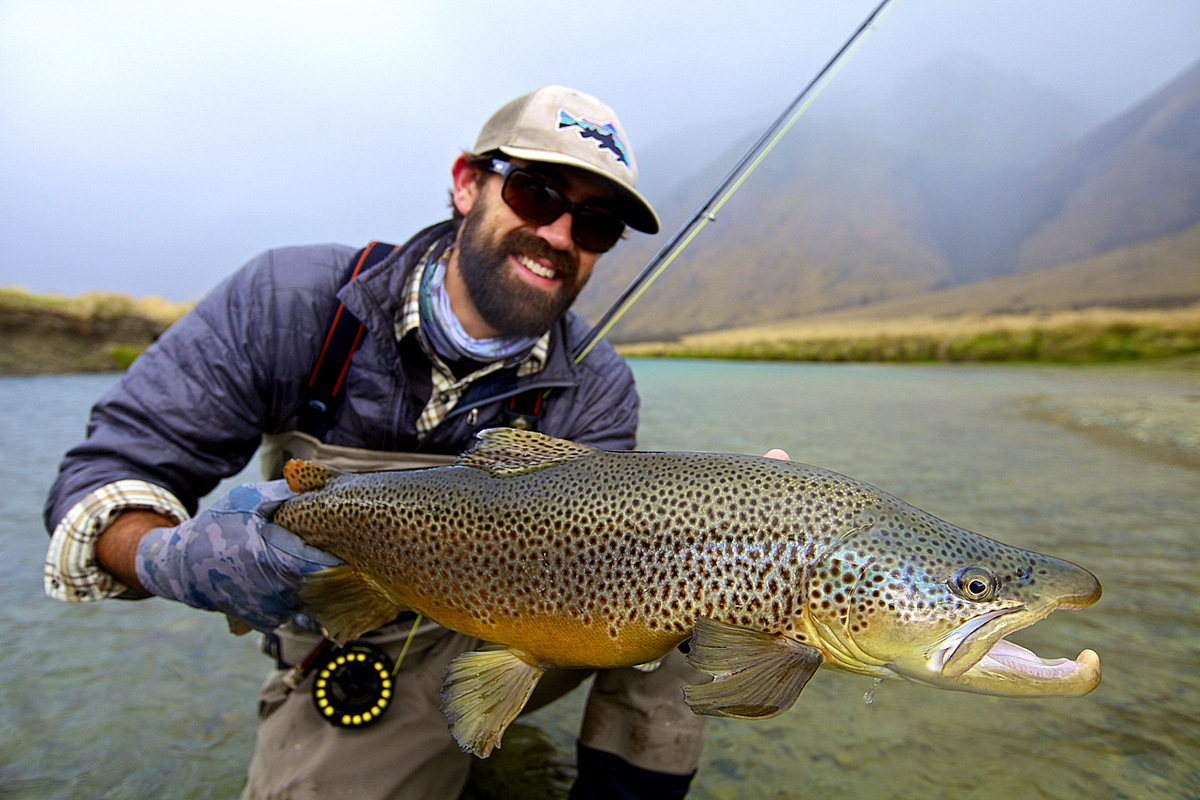 Fly fishing photo lucas young with a beautiful south for Fly fishing new zealand