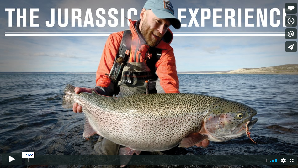 Video fly fishing for giants in argentina in the for Surf fishing nj license